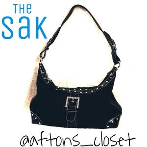 The Sak Rhinestone Buckle Shoulder Bag